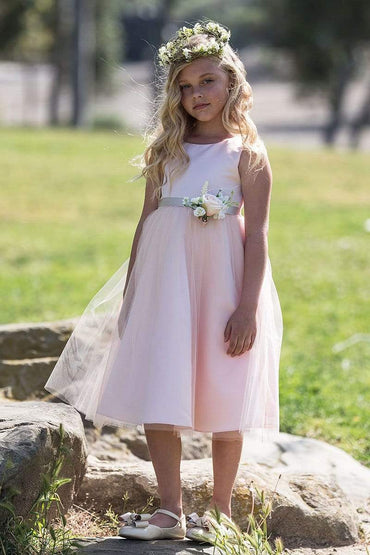 communion dresses Rosybell Dress Blush Petite Adele flower girl dresses