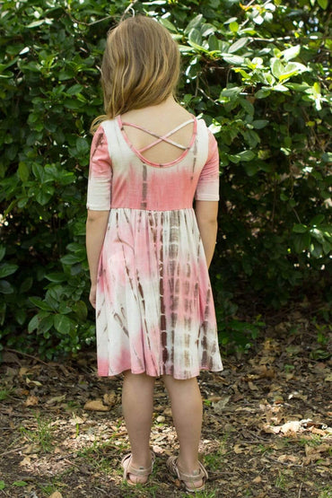 communion dresses Soft Basic Mom and Me matching Dress vendor-unknown flower girl dresses