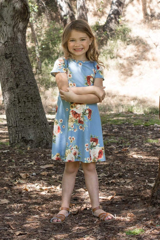 communion dresses Soft Floral Dress vendor-unknown flower girl dresses