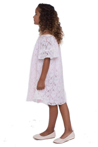communion dresses Summer Boho Off The Shoulder  dress-blush vendor-unknown flower girl dresses