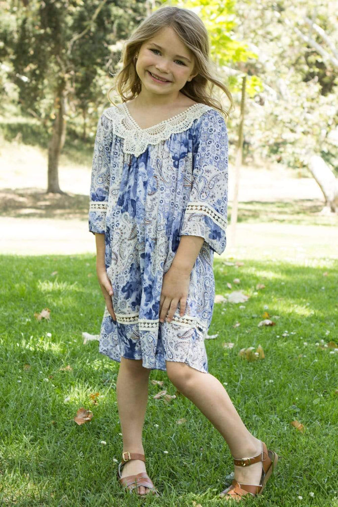communion dresses Summer Tunic Dress_blue vendor-unknown flower girl dresses