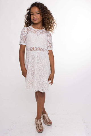 communion dresses Sweet Lace Dress vendor-unknown flower girl dresses