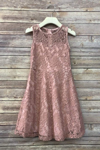 communion dresses Sweet Sleeveless Lace Dress vendor-unknown flower girl dresses