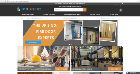 Just Fire Doors Website Preview