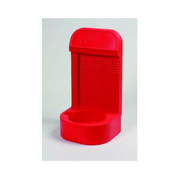Single Red Extinguisher Stand with Recessed Base