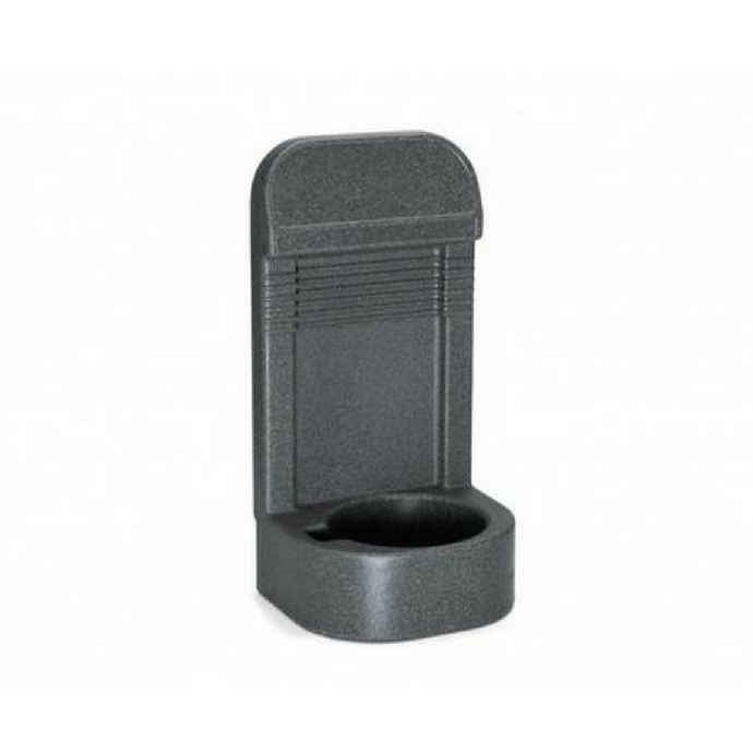 Single Grey Extinguisher Stand with Recessed Base