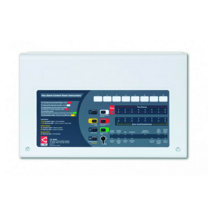C-Tec 8 Zone Conventional Repeater Panel