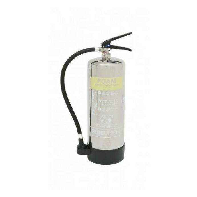 6 Litre Polished Foam Extinguisher