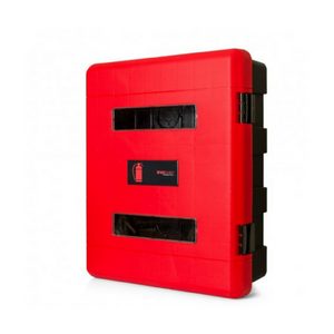 Firechief Double Fire Extinguisher Cabinet Hand-Operated Latch