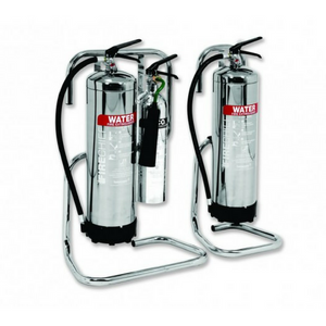Double Chrome Extinguisher Stand