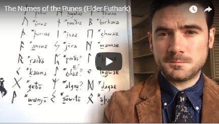 How to pronounce the Elder Futhark Rune names.