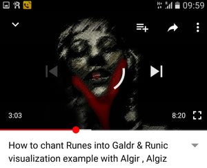 How to chant Runes into Galdr and Runic Visualization