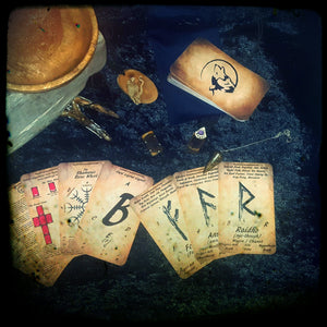 """Learn the Runes"" -Elder Futhark Rune Cards - Beginner to Advanced"