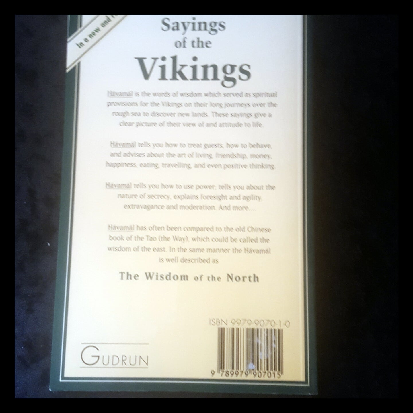 The Sayings of the Vikings - from the Havamal