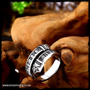 Rune Ring - Elder Futhark and Serpent