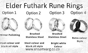 Rune Ring - Elder Futhark (4 variations)