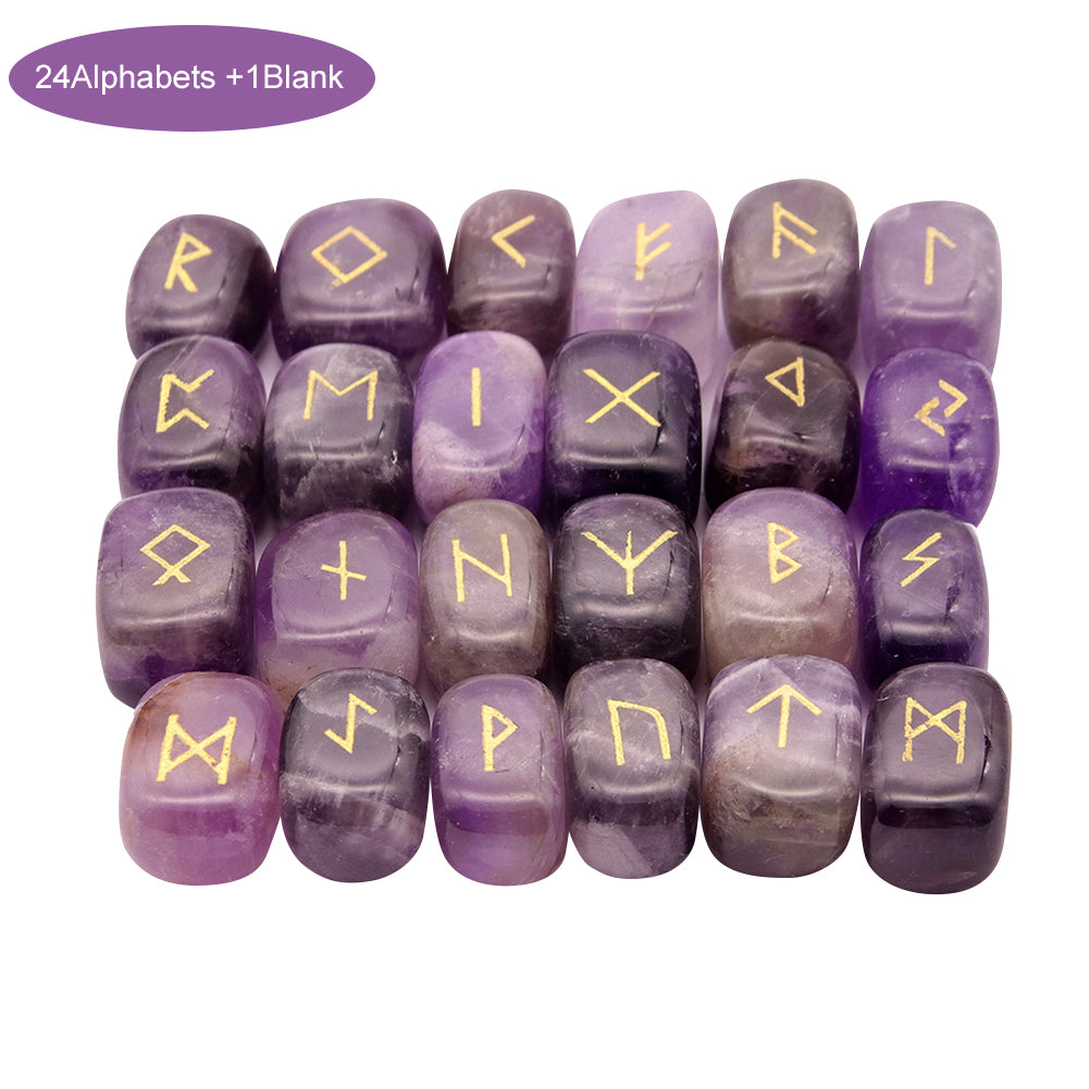 Engraved Rune Stone Set - Elder Futhark (various Options)