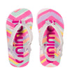 "ANIMAL ""DOODLE"" GIRLS FLIP FLOPS. CANDY PINK OR WHITE. UK KIDS 6-10"