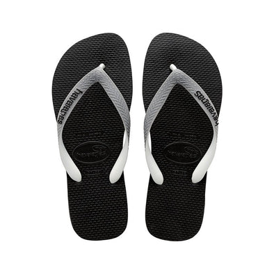 "HAVAIANAS ""TOP MIX"" UNISEX FLIP FLOPS. BLACK/STEEL GREY. UK 3-12 from peaknation.co.uk"