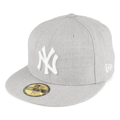 NEW ERA 59FIFTY FITTED CAP. MLB BASIC NY YANKEES. HEATHER GREY.