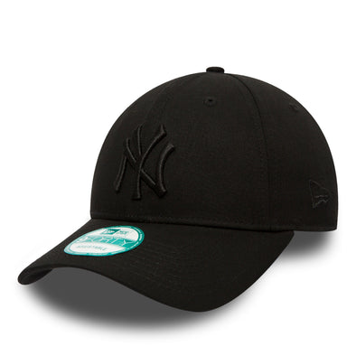 NEW ERA 9FORTY STRAPBACK CAP. MLB LEAGUE ESSENTIAL NY YANKEES. BLACK from peaknation.co.uk