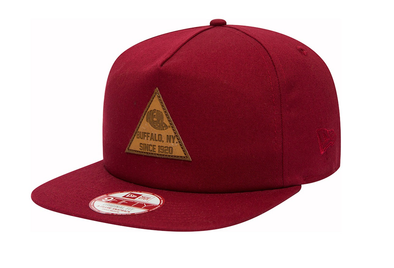 NEW ERA 9FIFTY SNAPBACK CAP. TRI PATCH NEW ERA. CARDINAL RED from peaknation.co.uk