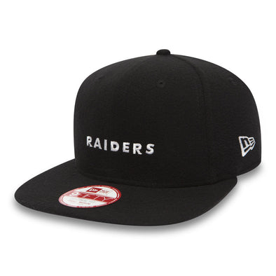 NEW ERA 9FIFTY SNAPBACK CAP. MINI LOGO OAKLAND RAIDERS. BLACK from peaknation.co.uk
