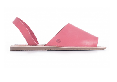 "BRAKEBURN ""FLAT SANDAL"" WOMENS LEATHER SANDALS. CORAL"