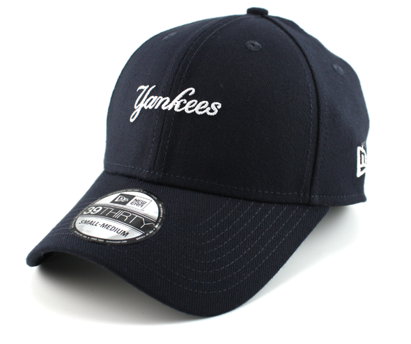 NEW ERA 39THIRTY FITTED CAP. MINI WORDMARK NEW YORK YANKEES. NAVY from peaknation.co.uk