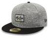 NEW ERA 59FIFTY FITTED CAP. TECH JERSEY NEW ERA CAP. GREY/BLACK from peaknation.co.uk