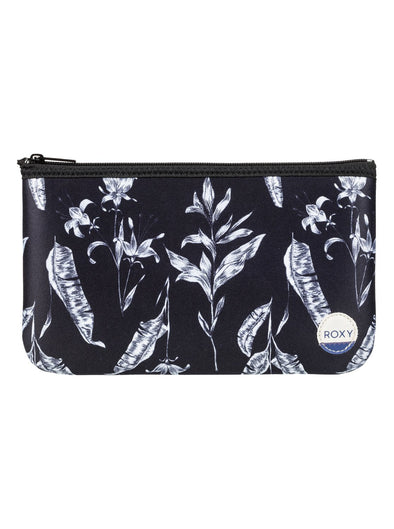 "ROXY ""PENCIL EMOTIONS"" GIRLS PENCIL CASE/WASHBAG. ANTHRACITE LOVE LETTER from peaknation.co.uk"