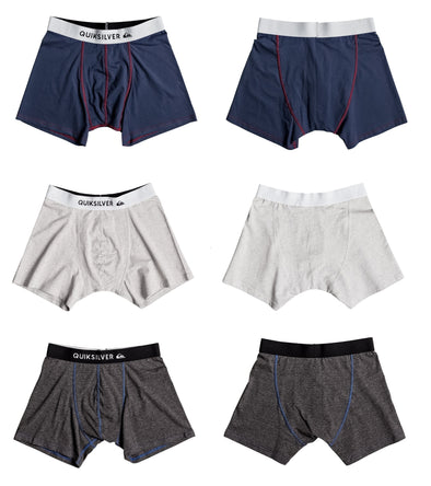 QUIKSILVER MENS BOXERS. 3 COLOURS AVAILABLE (EQYLW03022) from peaknation.co.uk