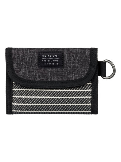 "QUIKSILVER ""SCALOP PLUS"" MENS WALLET. (EQYAA03563) DARK GREY HEATHER from peaknation.co.uk"