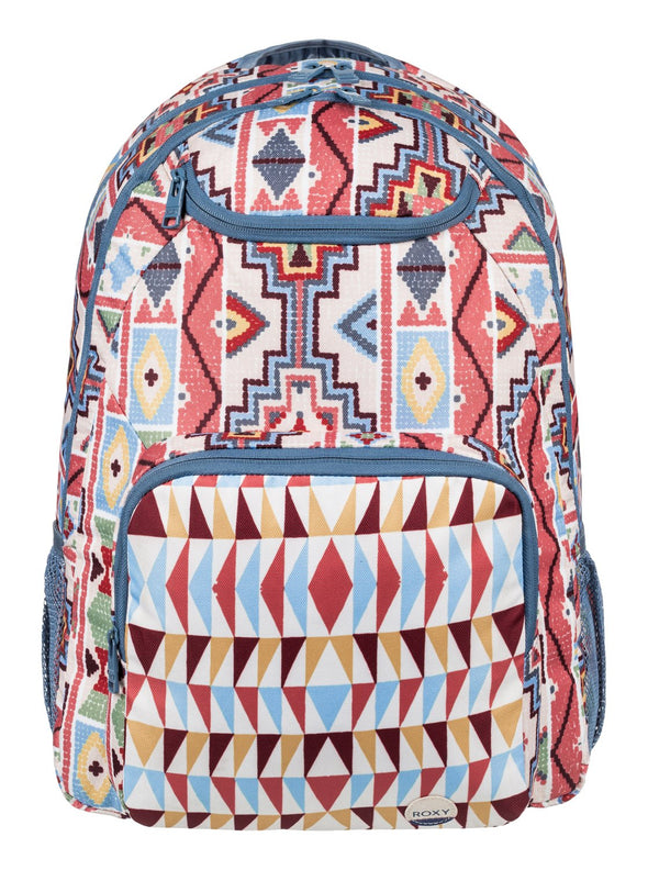 "ROXY ""SHADOW SWELL"" WOMENS BACKPACK. PALE DOGWOOD PASADENA BLANKET (nds7) from peaknation.co.uk"