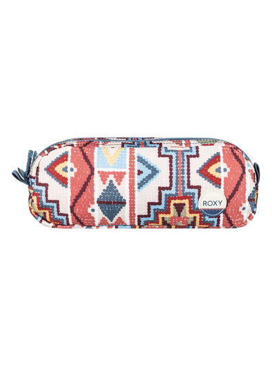 "ROXY ""DA ROCK"" GIRLS PENCIL CASE/WASHBAG. PALE DOGWOOD PASADENA BLANKET (nds7) from peaknation.co.uk"