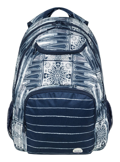 "ROXY ""SHADOW SWELL"" WOMENS BACKPACK. DRESS BLUES CHIEF PRADO (btk7)"