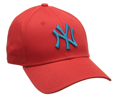 NEW ERA 9FORTY ADJUSTABLE CAP. LEAGUE ESSENTIAL NEW YORK YANKEES. RED/BLUE from peaknation.co.uk