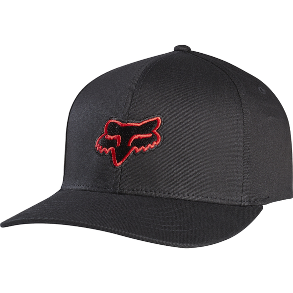 "FOX HEAD ""LEGACY"" FLEXFIT HAT. BLACK/RED from peaknation.co.uk"