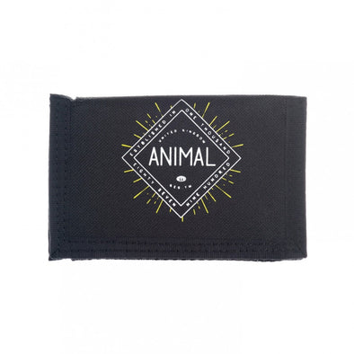 "ANIMAL ""CLIFTON"" MENS 3 LEAF WALLET. BLACK (DW7WL002-002) from peaknation.co.uk"