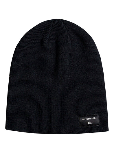 "QUIKSILVER ""CUSHY SLOUCH"" MENS BEANIE. BLACK (EQYHA03100) from peaknation.co.uk"