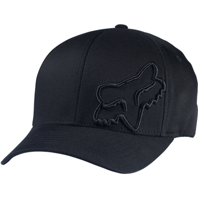"FOX HEAD ""FLEX 45 FLEXFIT"" MENS CAP. BLACK/BLACK"