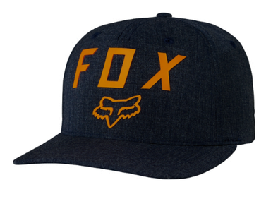"FOX HEAD ""NUMBER 2 FLEXFIT"" HAT. HEATHER MDNT from peaknation.co.uk"