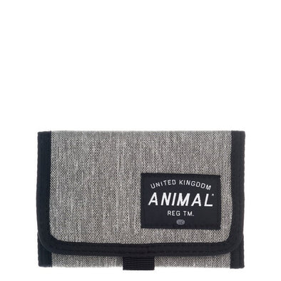 "ANIMAL ""WILE"" TRI FOLD MENS WALLET. STEEL GREY.(DW7WL006-K24) from peaknation.co.uk"