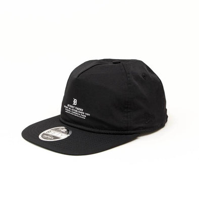 NEW ERA 9FIFTY SNAPBACK CAP. MONOCHROME SCRIPT DETROIT TIGERS. BLACK from peaknation.co.uk