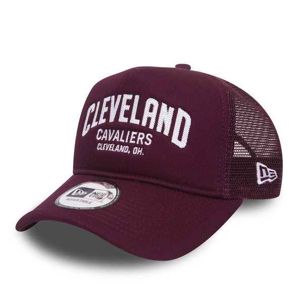 NEW ERA ADJUSTABLE TRUCKER. CHAINSTITCH CLEVELAND CAVALIERS. MAROON from peaknation.co.uk