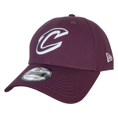 NEW ERA 9FORTY ADJUSTABLE CAP. FELT INFILL CLEVELAND CAVALIERS. MAROON from peaknation.co.uk