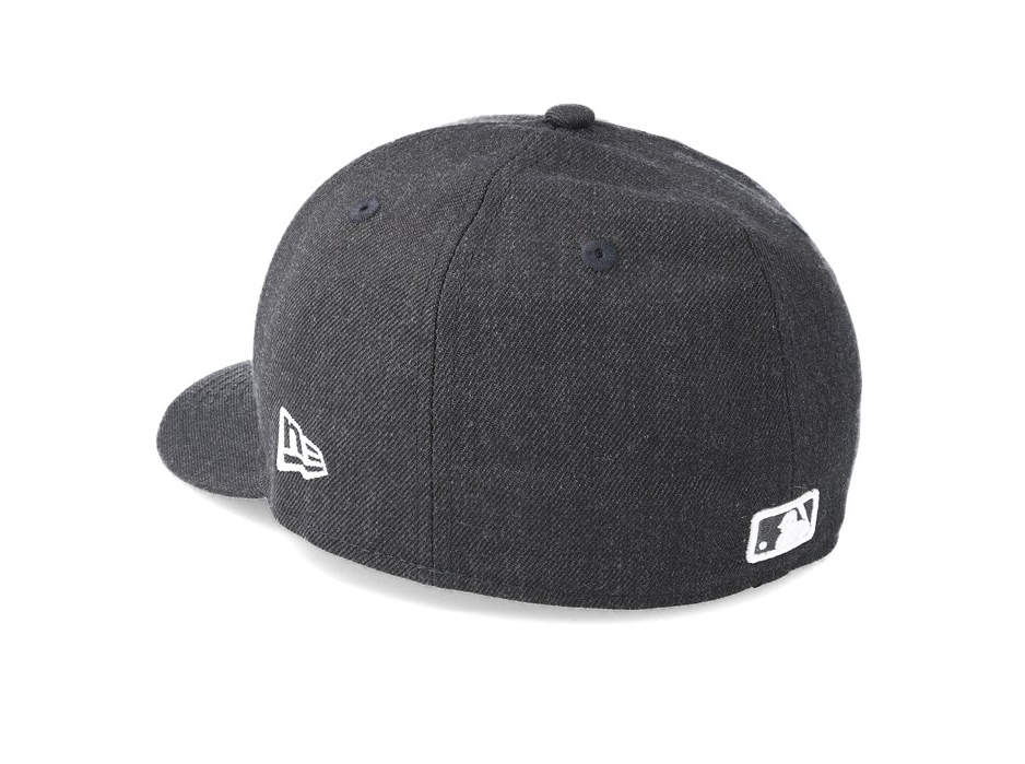 108f36e564a NEW ERA 59FIFTY LOW PROFILE FITTED CAP. HEATHER NEW YORK YANKEES. GRAPHITE