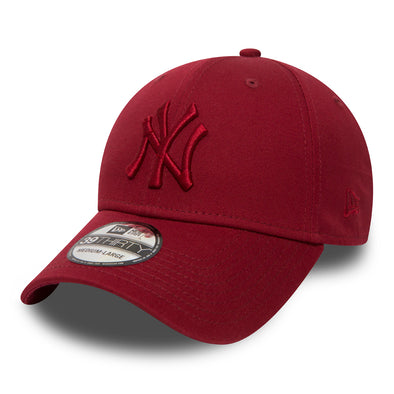 NEW ERA 39THIRTY FITTED CAP. NEW YORK YANKEES LEAGUE ESSENTIAL. CARDINAL RED from peaknation.co.uk
