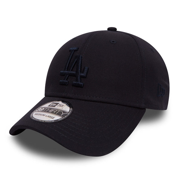 NEW ERA 39THIRTY FITTED CAP. LA DODGERS LEAGUE ESSENTIAL. NAVY from peaknation.co.uk