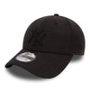 NEW ERA 39THIRTY FITTED CAP. MLB NEW YORK YANKEES. HEATHER BLACK from peaknation.co.uk